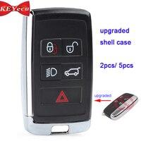 KEYECU Land Rover için * r Range Rover Sport LR2 LR4 için Jagua * r f pace F tipi XE XF XJ yükseltilmiş uzaktan anahtar Shell kılıf KOBJTF10A|Araç Anahtarı|   -