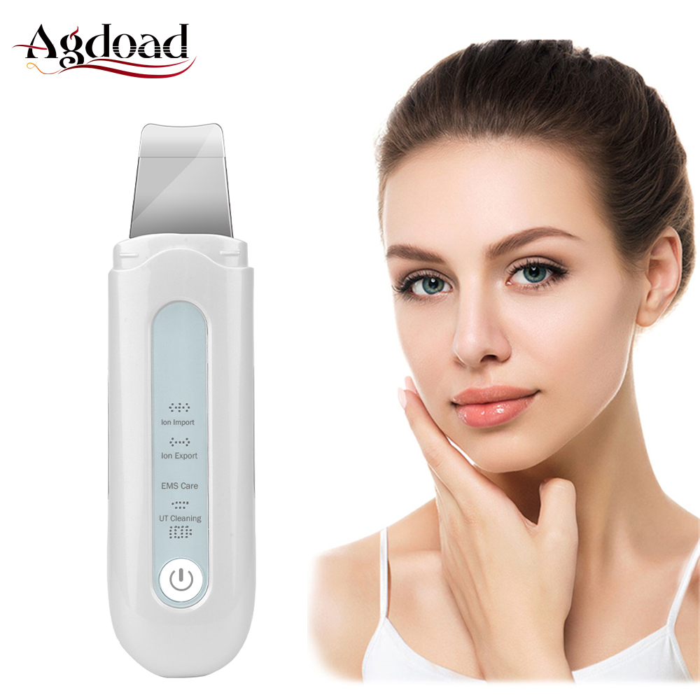 Ultrasonic Deep Face Cleaning Machine Skin Scrubber Remove Dirt Blackhead Reduce Wrinkles Beauty Facial Lifting Whitening