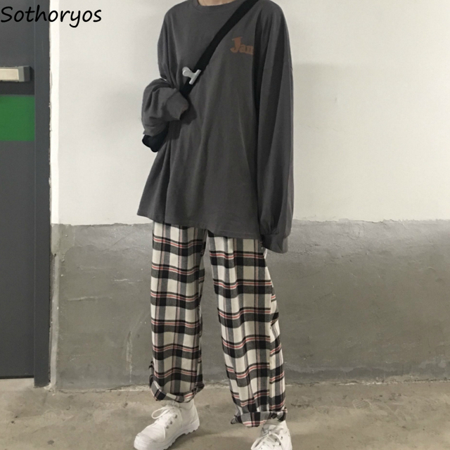 Pajama Sets Printed Thin Daily Outwear Chic Trendy Long Sleeve Womens Korean Style Ulzzang Couples Kawaii Homewear Loose Elegant