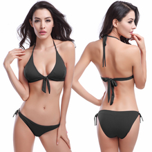 2020 Hot Sale Thong bikini  Vintage Bowknotted Top Removable Padding Cheap Bandage Ties Bikini for Women Dropshipping горячие оптовые bowknotted top removable padding strappy 2016 victoria style cheap bikinis women dropshipping smlxl href