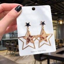New Fashion Five-pointed Star Earrings Best Selling Simple Popular Korean Sexy Leopard Geometric Jewelry Wholesale