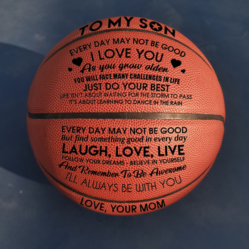 Mom to My Son You Basketball Wholesale or retail Cheap Ball Official Size7 With Net Bag+ Needle