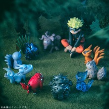 Figuras de acción de Naruto, 11 unidades por juego, juguetes de PVC, Bijuu, Kyuubi, Kurama, Navidad, niños, juguetes de modelos de colección