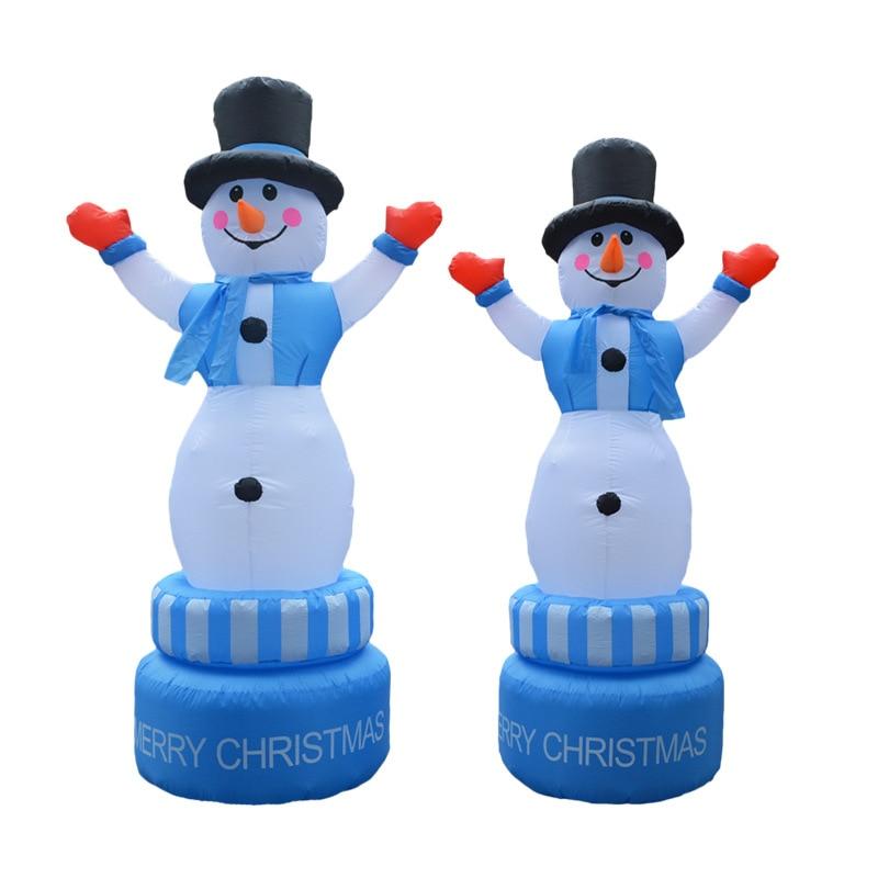 2.1m gigante natal girando inflável boneco de neve explodir brinquedo natal boneco de neve decoração da festa do jardim para o shopping hotel celeração