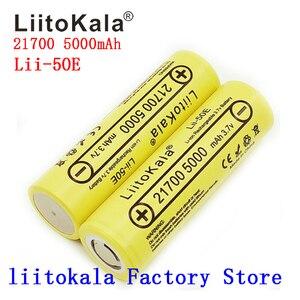 Image 5 - 21700 liitokala lii 50E 5000 2600mah の充電式バッテリー 3.7 v 5C 放電ハイパワーバッテリー高電力機器