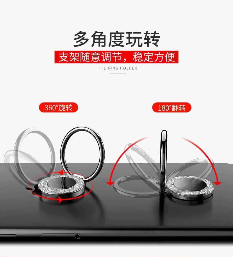 360 stopni palec na telefon komórkowy, z pierścieniem stojak na smartfona do IPhone IPad Xiaomi wszystkie inteligentne telefony luksusowe modele do pary