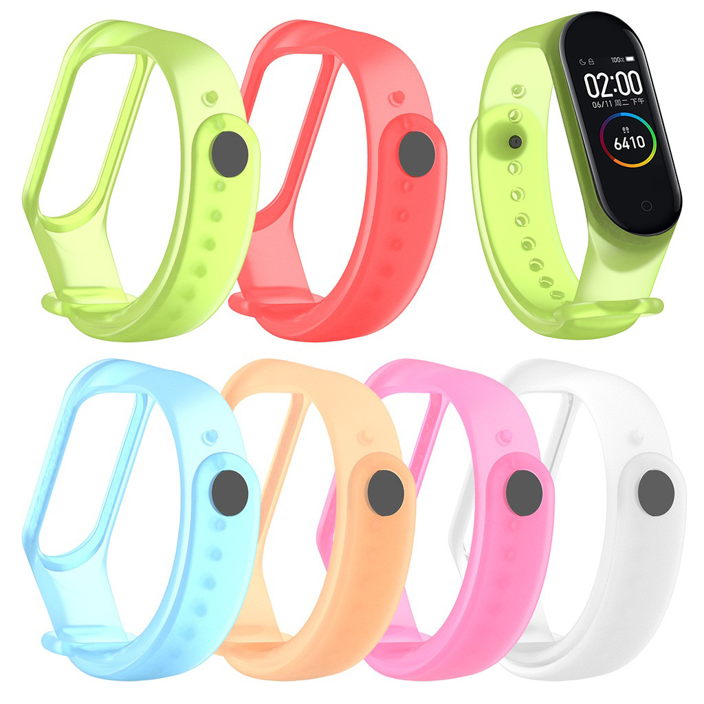 HIPERDEAL 2020 Is Suitable For XIAOMI MI Band 4 Non-fading New Transparent Silicone Soft Wristband Wristband Replacement New