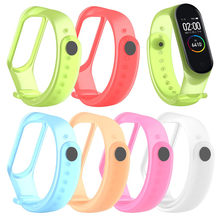 HIPERDEAL 2020 is suitable for XIAOMI MI Band 4 non-fading new transparent silicone soft wristband wristband replacement new(China)