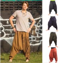 Мужские шаровары в стиле хип-хоп, мешковатые штаны размера плюс, Boho Gypsy Aladdin, летние богемные Непальские Широкие штаны