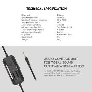 Image 5 - Fantech MH86 السلكية لعبة سماعة 3.5 مللي متر الصوت المحيطي رغوة الذاكرة الأذن وسادة مع ميكروفون و واحد بدوره اثنين المكونات ل PC PS4 PS5