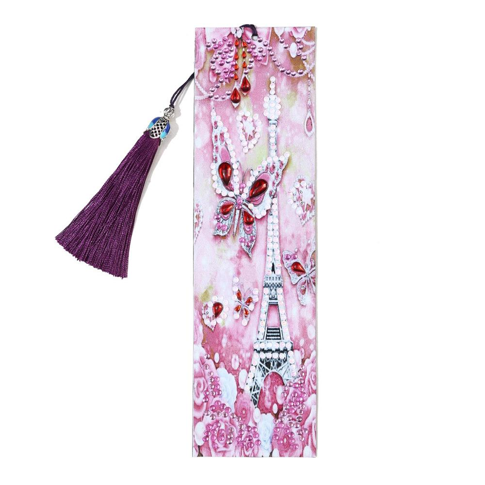 DIY Diamond Painting Leather Tassel Book Marks Special Shaped Diamond Embroidery