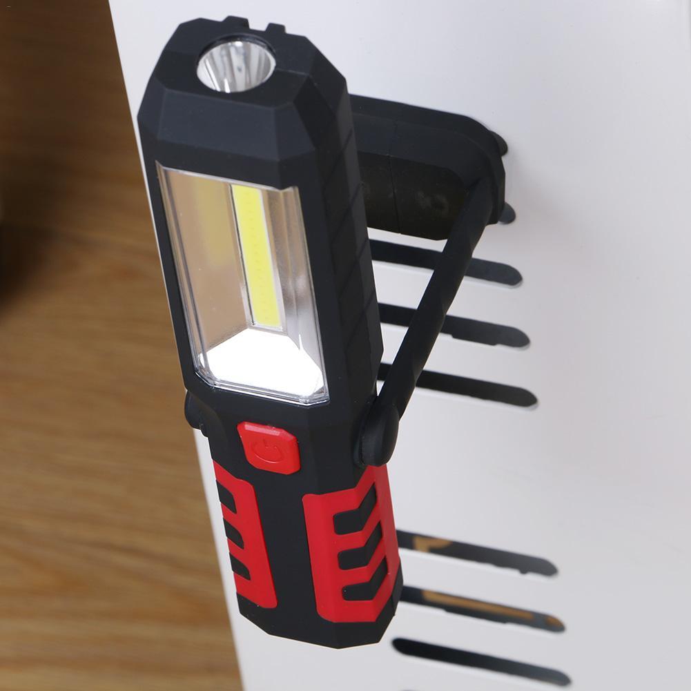 Купить с кэшбэком LED Car Repair Work Light COB Portable Rechargeable Emergency Light With Magnetic Base 3 Mode Flashlight Car Repair Home Outdoor