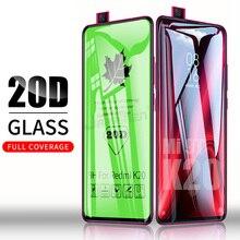 20D غطاء الغراء الكامل الزجاج المقسى ل شاومي Redmi نوت 9 برو ماكس 9S Mi 9T Redmi نوت 8 7 K20 برو 8T 7A الزجاج حامي الشاشة