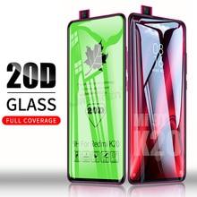20D מלא דבק כיסוי מזג זכוכית עבור Xiaomi Redmi הערה 9 פרו מקסימום 9S Mi 9T Redmi הערה 8 7 K20 פרו 8T 7A זכוכית מסך מגן