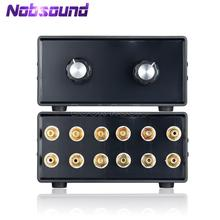 Nobsound מיני HiFi סטריאו 4 ב 2 OUT RCA אודיו אות ספליטר/Switcher בורר פסיבי Preamp