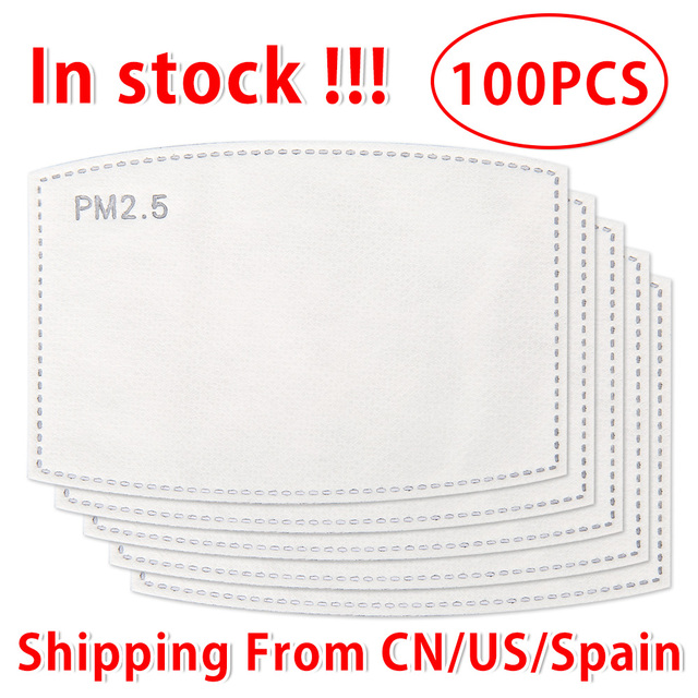 10-100 PCS PM2.5 Filter Paper Anti Haze Mouth Face Mask Flu Facial Anti Pm 25 Dust Masks Activated Carbon