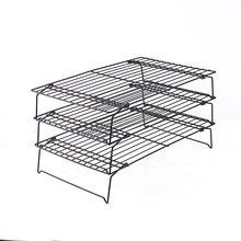 Cooling Rack Baking Tool Net Folding Cookies Cakes Metal Nonstick Kitchen