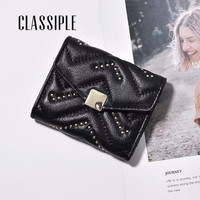 Genuine Leather Wallet Women Small Luxury Brand Famous Mini Women Wallets Purses Female Short Coin Card Purse Cartera Mujer