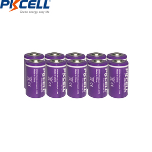 Image 2 - 10 قطعة/الوحدة PKCELL 1/2 AA بطارية 3.6 فولت ER14250 14250 1200 مللي أمبير LiSOCl2 بطارية ليثيوم بطاريات لتحديد المواقع