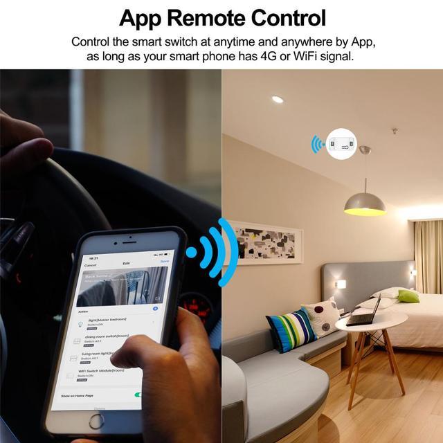 Wifi inteligentny DIY przełącznik światła 433MHz przełącznik RF szklany Panel dotykowy automatyczny moduł dla inteligentnego domu wsparcie Alexa Google Home Tuya App