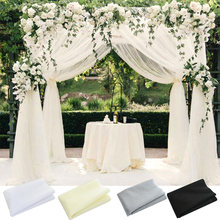 10m X 48cm Wedding Decoration Organza Crystal Sheer DIY Wedding Flowers Arch Tulle Roll Backdrop Hanging Decor Party Supplies
