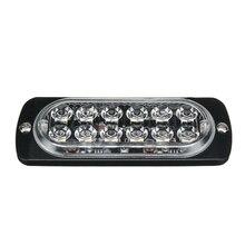 2pcs Amber 12LED Car Signal Warning Lamps 36W Ultrabright Light Bar Waterproof