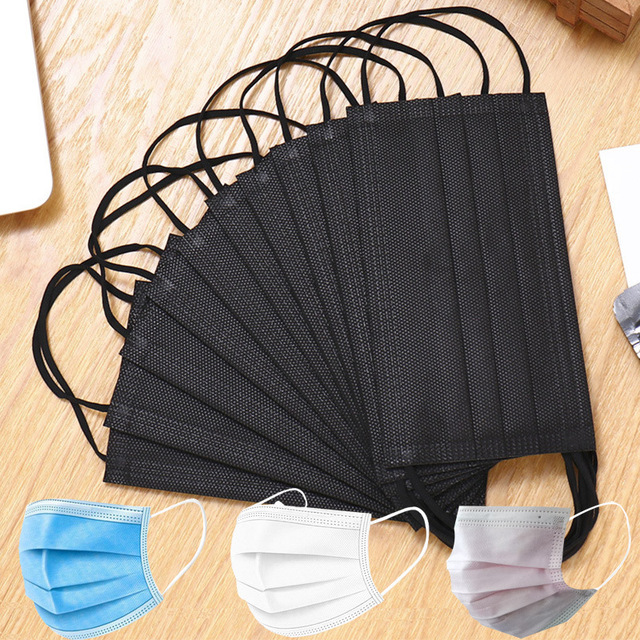 10/20/50/100PCS Disposable Mouth Mask Breathable Filter Face Mask 3 layer  Non-woven Meltblown Masks