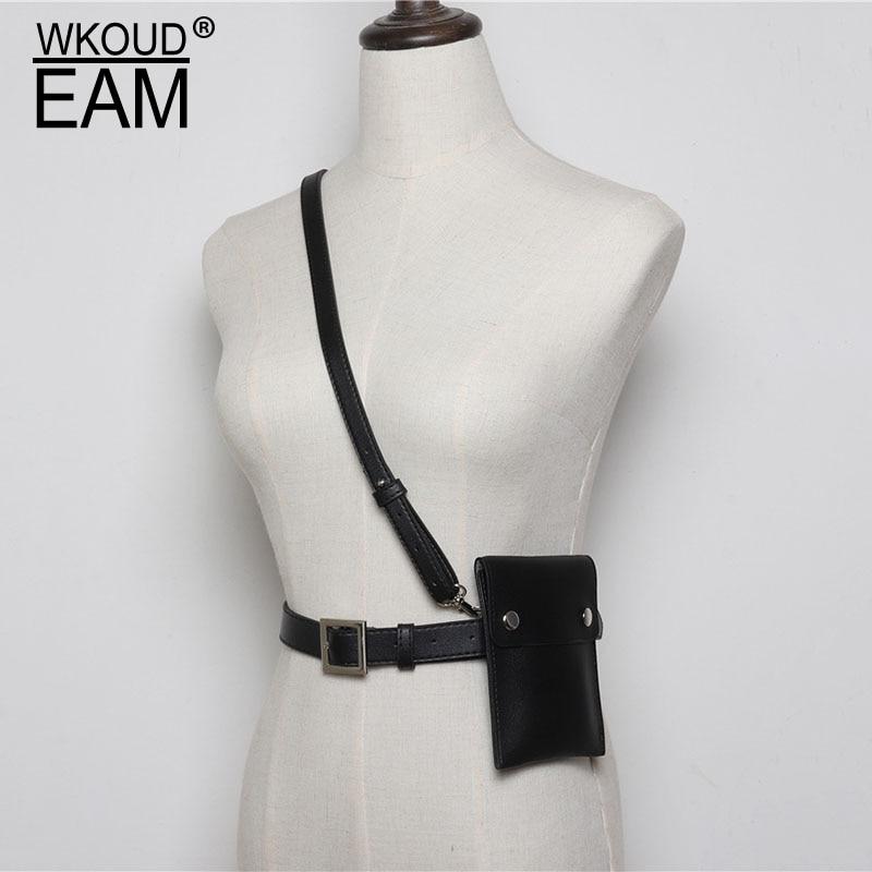WKOUD EAM 2020 New Fashion Designer Genuine Leather Waistband Female Wild Mini Small Belt Bag Temperament Belt Lady Tide PE102