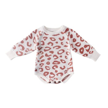 Comfortable ed Baby Clothes Newborn Baby Romper Leopard Baby Girl Romper Cotton Infant Baby Boy Romper 3
