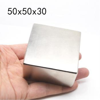 1PC N52 Neodymium Magnet 50*50*30MM Super Strong Powerful Square Block Permanent Rare Earth Magnets Gas Meter 1pc round block magnet 60 30mm super strong neodymium magnet permanent rare earth magnet