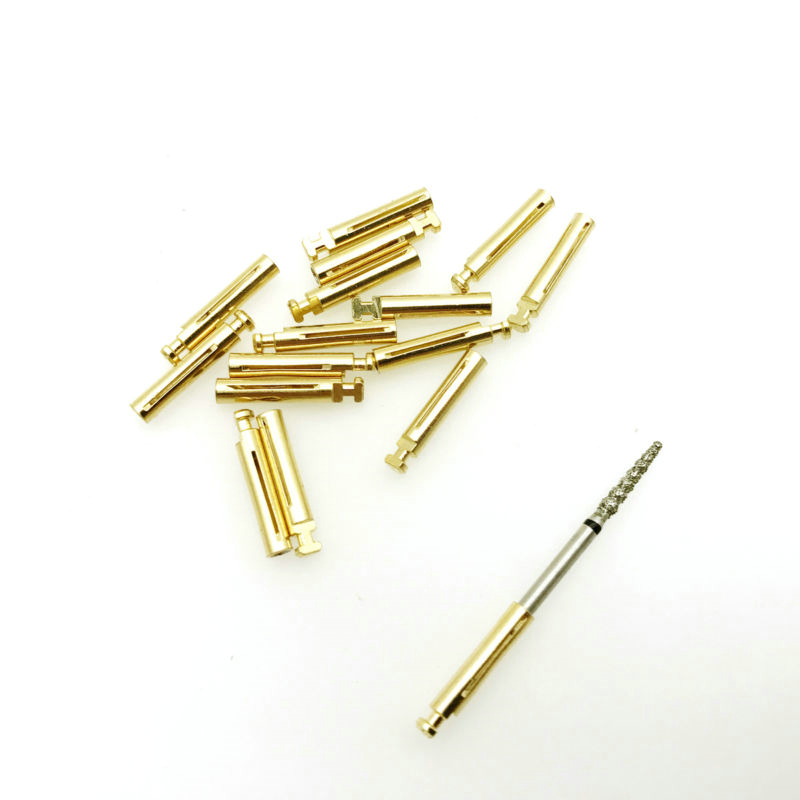 10pcs Dental Burs Adaptor FG High Speed To  Low Speed Contra Angle Convertor 1.6mm To 2.35mm