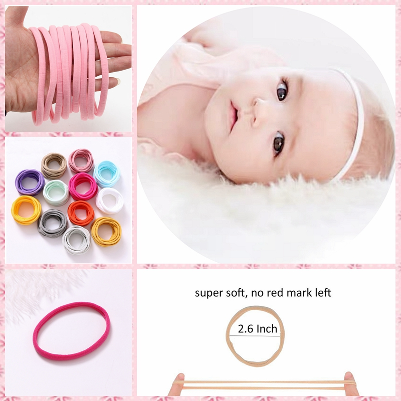 Super Soft Nylon Baby Elastic Hair Band Headband On The Head Seamless Headbands For Children Toddler Baby Hair Accessories Best