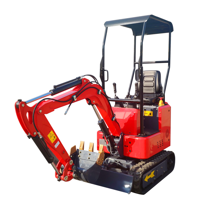 Fast delivery Mini excavator 1t hydraulic mini digger with bucket 380mm and roof free