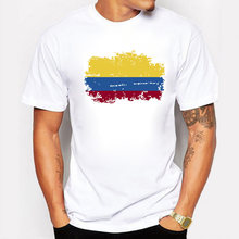 Estate Colombia Ventole Men T shirt Manica Corta Rotonda collare Magliette E Camicette Colombia Bandiera di Stile di Hip Hop T-shirt Per Gli Uomini(China)
