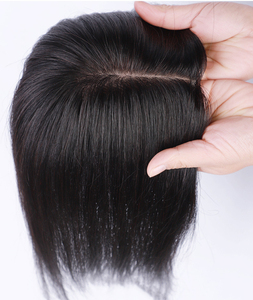 salonchat women toupee Middle Part Bangs human remy toupee hair silky straight hair toupee salon