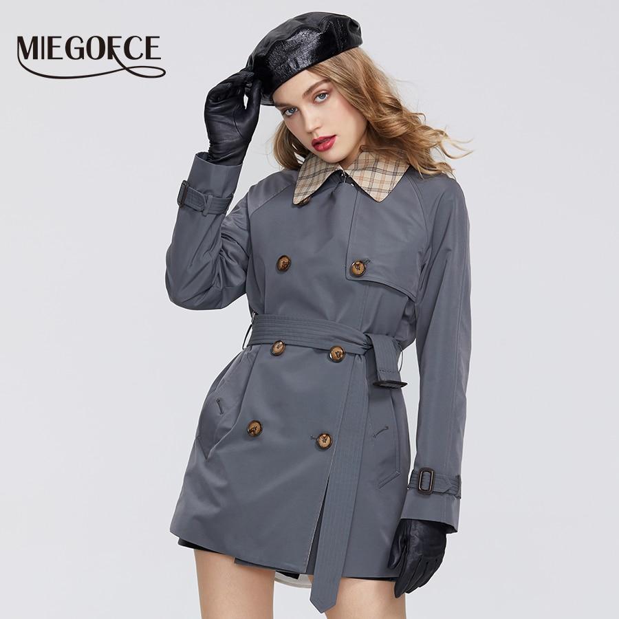 MIEGOFCE 2020 pring New Coat Women's Windbreaker Casual High Quality Windbreaker Has Belt Button Down Cloak Office Style|Trench| - AliExpress