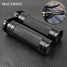"Motorcycle Black 1""25mm Hand Grips Aluminum For Harley Sportster 883 1200 XL VRSC Touring Dyna Softail Custom 96 UP Handle Bar"
