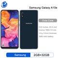 Оригинальный разблокированный сотовый телефон Samsung Galaxy A10e, Восьмиядерный, экран 5,83 дюйма, одна SIM-карта, 2 Гб ОЗУ 32 Гб ПЗУ, камера 8 МП, смартфон...
