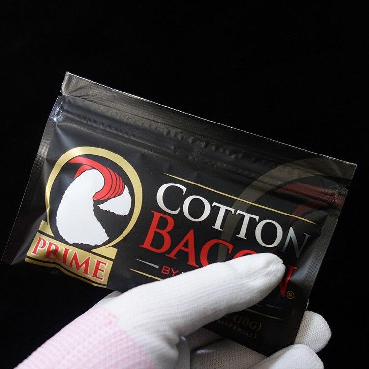 1 saco/2 sacos diy estilo algodão eletrônico cigaret versão ouro bacon apto para rda rta atomizador tanque vaporizador ecig acessórios