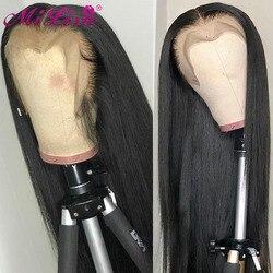13x4 dentelle frontale perruque droite dentelle avant perruques de cheveux humains pour les femmes noires Remy brésilien droite 30 pouces 4x4 dentelle fermeture perruques
