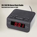 Цифровой светодиодный Будильник, радио, современный красный светодиодный дисплей, часы, FM радио, двойной будильник, подсвечивающий сигнал, ...