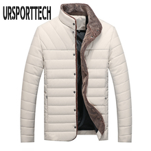 URSPORTTECH Winter Jacket Men Warm Parkas 2020 Casual Stand Collar Men's Coat Single Breasted Thick Outerwear Men Clothing 5XL