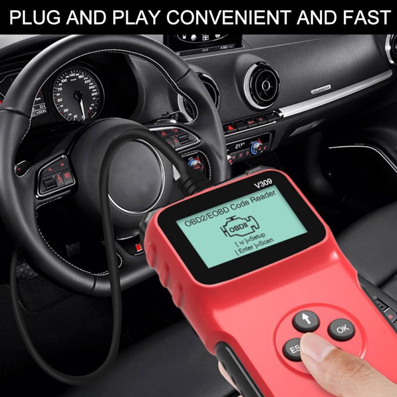 Car OBD2 Scanner EOBD Code Reader Automotive Check Engine Fault Diagnostic Tool