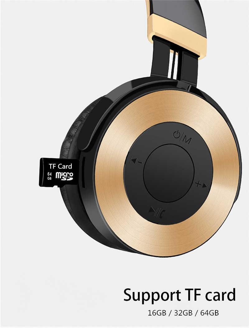 LVcards 02 HIFI ステレオイヤホン bluetooth ヘッドフォン音楽サポート FM/TF モードヘッドフォンとマイク pc/ 電話