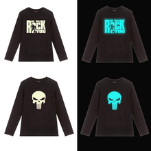 boys Glowing t shirt Tops Autumn kids Cotton Casual clothes boy Girls Christmas Costume tshirt Kids Clothes