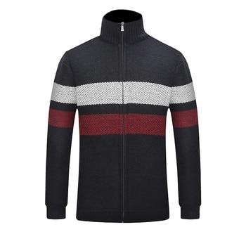 2019 New Winter Warm Striped Sweater Cardigan Fashion Colorful Zipper Cardigan Jacket Sweater Long Sleeve Slim Fit Jacket striped trim raglan sleeve jacket