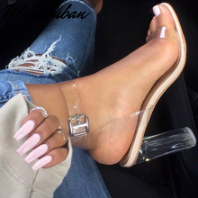 Clear Heels For Women Open Toed Jelly Sandals Women Shoes Su