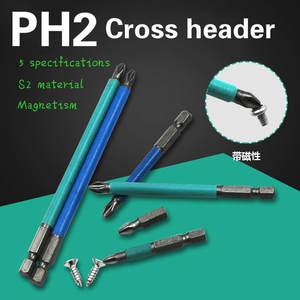 Shank-Cross-Head Screwdriver Hand-Tools-Set Magnetic S2 Hex 1PCS No Batch-Nozzle-Head