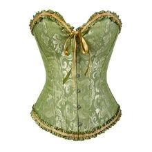 Sapubonv, корсеты и бюстье, Корректирующее белье, корсет размера плюс, парча, женский сексуальный корсет, винтажный, 6xl, красный, черный, зеленый