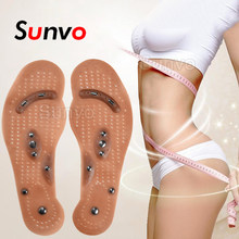 Magnetic Insoles Slimming Therapy for Weight Loss Massage Foot Care Shoes Mat Pad Brown Insole Wholesale Dropshipping Soles(China)